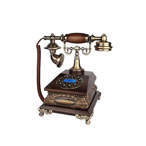 ZR Rétro européen téléphone Fixe Maison Salon étude Fixe téléphone Bouton Ordinaire (Size : Handsfree Dialing)