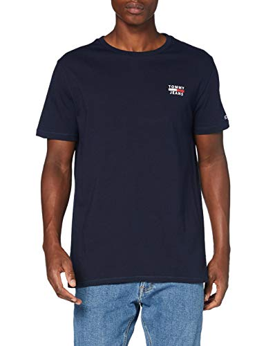 Tommy Jeans Herren TJM Chest Logo Tee T shirt, Blau (Twilight Navy), Medium