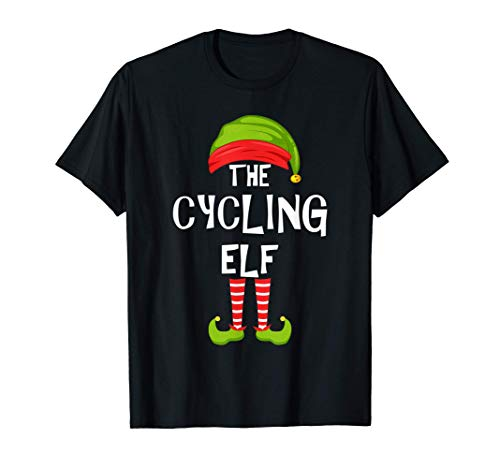 Ciclismo Duende a juego Fiesta familiar de Navidad Grupo de Camiseta