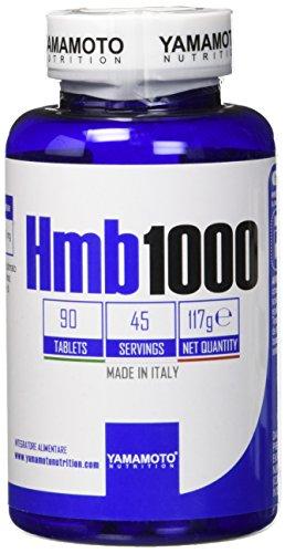 Yamamoto Nutrition HMB1000 integratore alimentare di Beta Idrossi Beta Metil Butirato 90 compresse