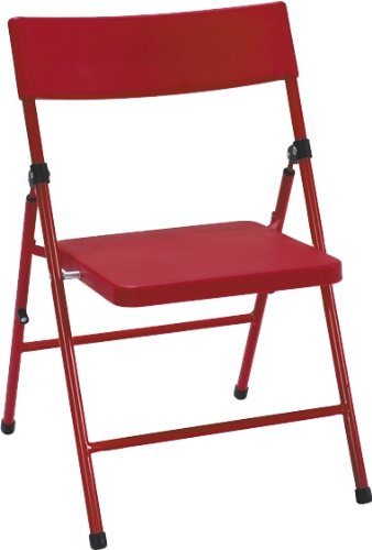 Cosco Products Kid's 4-Pack Pinch-Free Folding Chair, Red