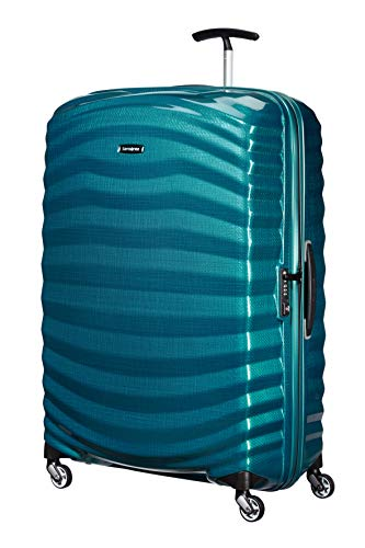 Samsonite Lite-Shock - Spinner XL Suitcase, 81 cm, 124 Litre, Blue (Petrol Blue)