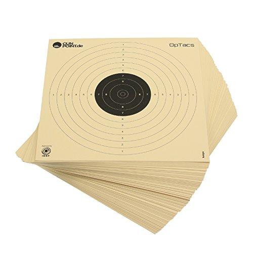 100 Stück Luftpistolenscheiben 17 x 17 cm / Zielscheibe Luftpistole