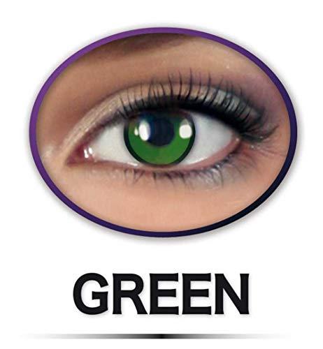 KarnevalsTeufel Kontaklinsen Green Grün farbige Motivlinsen Effektlinsen Jahreslinsen Fun Linsen Monsterlinsen