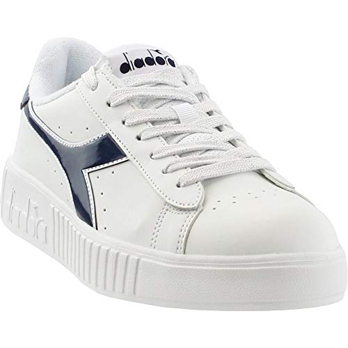 Diadora Womens Game P Step Casual Sneakers, White, 6.5