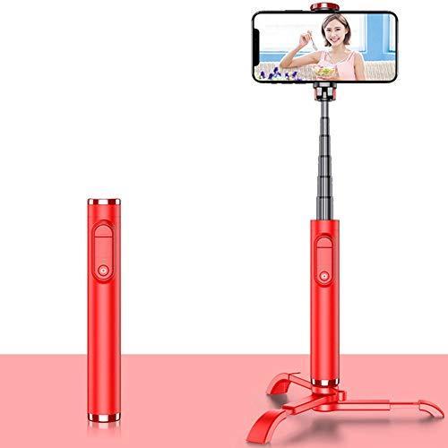 W.zz Palo Selfie Trípode Bluetooth Mini Monópode Extensible Rotación De 90° con Mando A Distancia Inalámbrico para iPhone Samsung Huawei Cámara