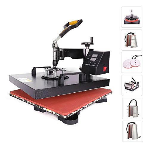CO-Z 110V Heat Press 360 Degree Swivel 8 in 1 Heat Press Machine Multifunction Sublimation Combo T Shirt Press Machine for Mug Hat Plate Cap Mouse Pad...