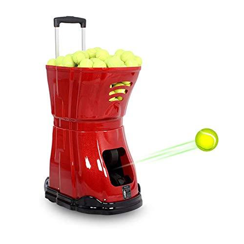 HYDDG Pelotas de tenis de lanzamiento de máquina profesional, lanzar máquina automática para servir con control remoto