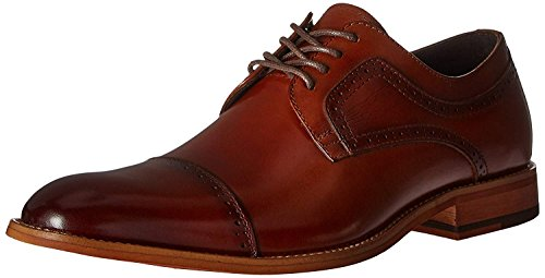 STACY ADAMS Men's Dickinson Cap Toe Oxford, Cognac, 11 W US