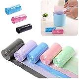 5pcs Residuos De Color Bolsas De Basura Turística De Basura De Plástico Mini Papelera De Almacenamiento De Titular De Basura Color De La Mezcla