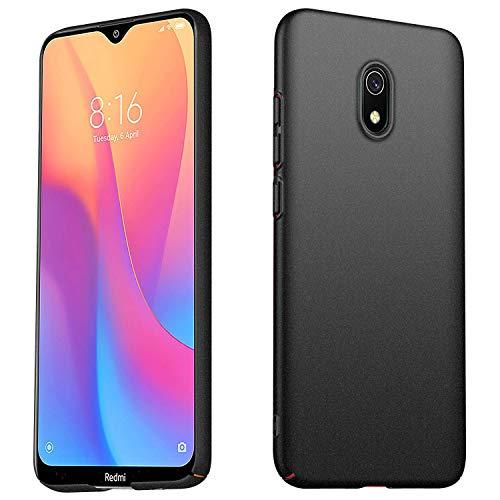TopACE telefoonhoesje beschermer voor Xiaomi Redmi 8A, veerkrachtige schokabsorptie vervanging voor Redmi 8A Slim Scrub Shell mobiele telefoon beschermers (zwart)