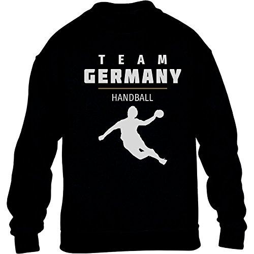 Team Germany Handball Fan Shirt Olympische Spiele Kinder Pullover Sweatshirt L 134/146 Schwarz