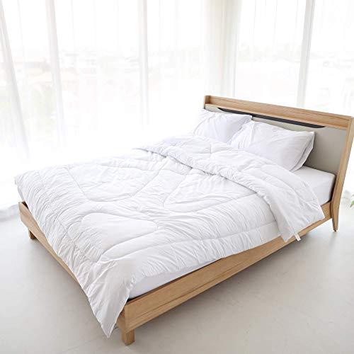 Bettdecke 135x200 Ganzjahresdecke Steppdecken Schlafdecke - für Allergiker Steppbettdecke weiß hypoallergen 135 200