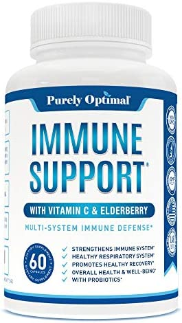 Premium Immune Support Supplement Immune Booster for Adults w Vitamin C Elderberry Zinc Probiotics product image