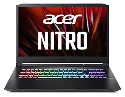 Acer Nitro 5 (AN517-41-R4FJ) 43,9 cm (17.3 Zoll Full-HD IPS 144Hz matt) Gaming Laptop (AMD Ryzen 7 5800H, 16 GB RAM, 1024GB PCIe SSD, NVIDIA GeForce R