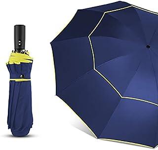 Paraguas automático de lluvia para mujer, paraguas grande de doble capa para hombre, paraguas de viaje grande a prueba de ...
