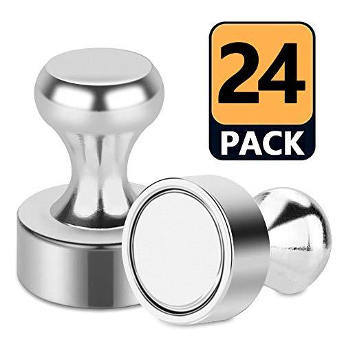 DYFFLE Neodym Magnete Extra Stark- 24 Stücke Magnete Klein mit Aufbewahrungs Box, Magnete Kühlschrank, Magnetpins, Magneten für Magnettafel, Whiteboard, Pinnwand (12 X 16mm)