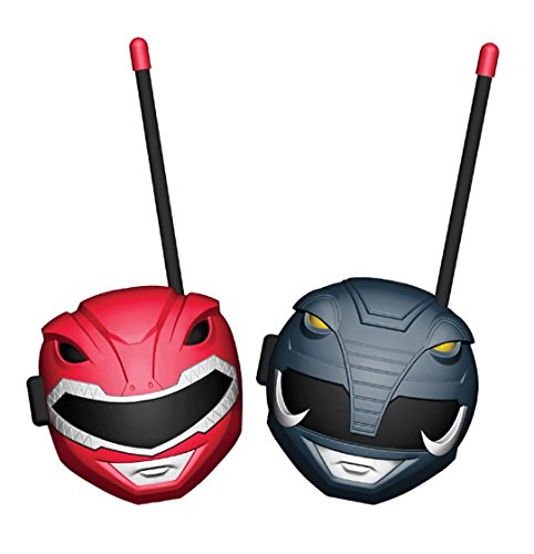 Power Rangers Walkie Talkies for Kids, 2 Way Handheld Radios, Long Range Static Free, Kids Toys, Best Gifts & Top Outdoor Toys for Boy & Girls 3 Year Old & Up, Outside Games Adventure