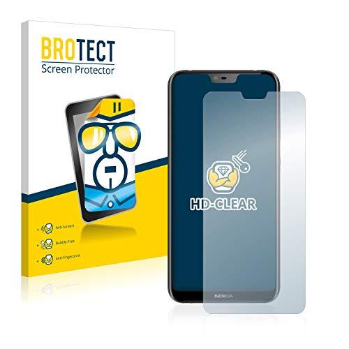BROTECT Schutzfolie kompatibel mit Nokia 6.1 Plus 2018 (2 Stück) klare Bildschirmschutz-Folie