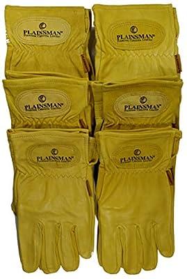 Plainsman Goatskin Cabretta Leather Gloves (6) Pairs Wholesale Bundle Large