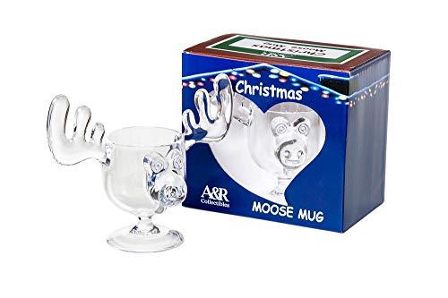 CHRISTMAS Eggnog Moose Mug - SINGLE Mug, Gift Boxed - Safer Than Glass