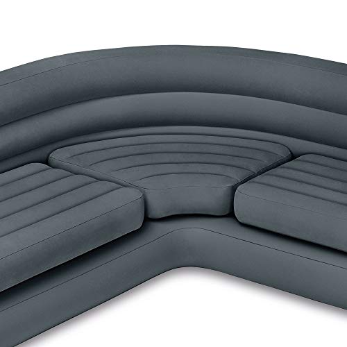 Intex Inflatable Corner Sectional Sofa with Cupholders