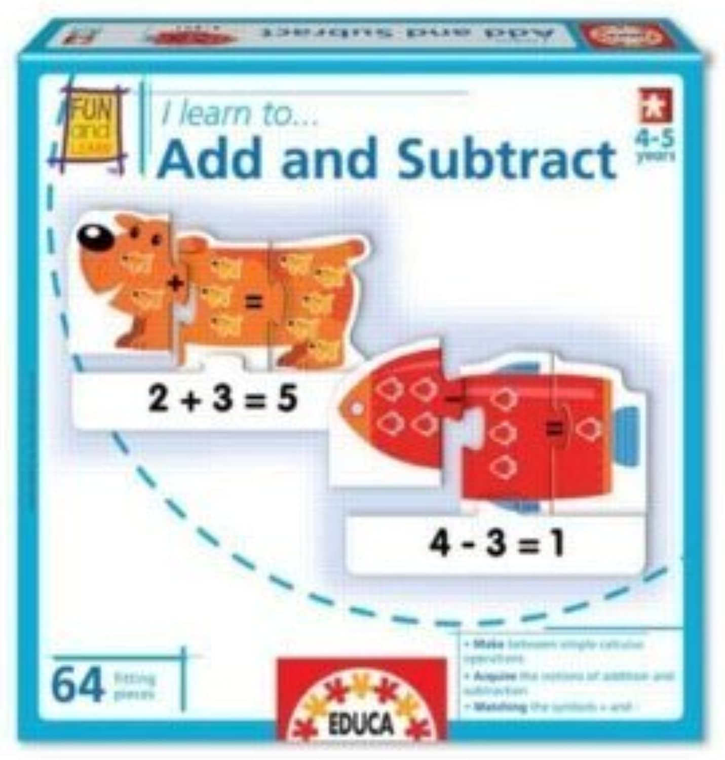 Educa I Learn to Add & Subtract Jigsaw Puzzle (64 Piece) by Educa