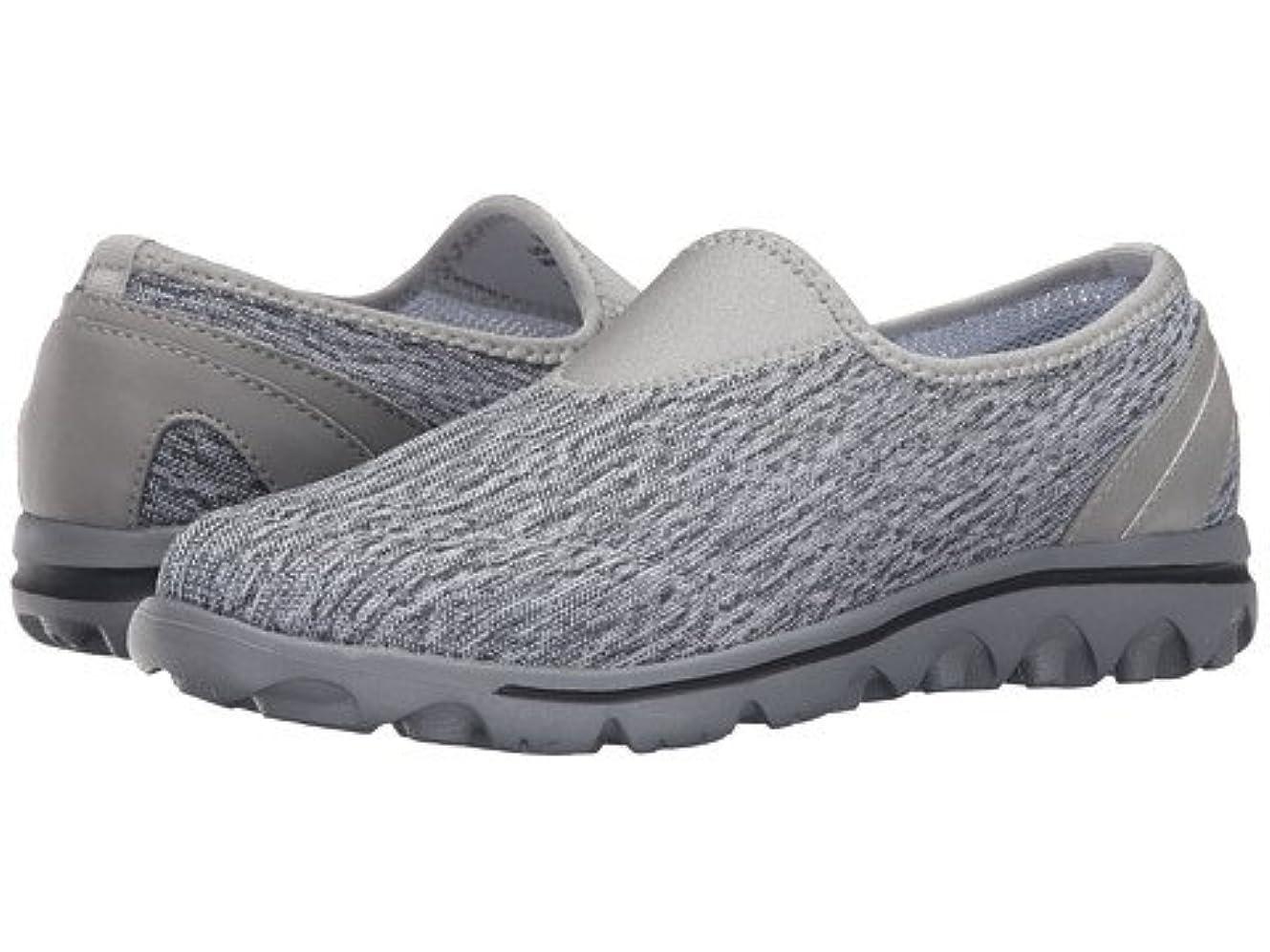 パースブラックボロウ方程式液化する(プロペット)Propet レディースウォーキングシューズ?カジュアルスニーカー?靴 TravelActiv Slip-On Black/White Heather 8.5 25.5cm N (AA) [並行輸入品]