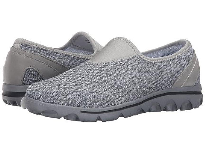 独特の説教するあまりにも(プロペット)Propet レディースウォーキングシューズ?カジュアルスニーカー?靴 TravelActiv Slip-On Black/White Heather 6.5 23.5cm N (AA) [並行輸入品]