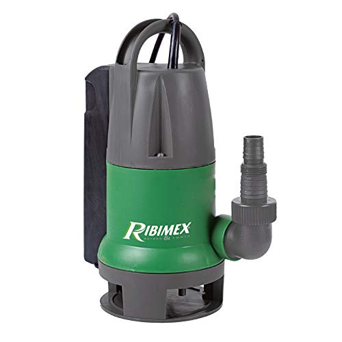 Ribimex PRPVC550CA Pompa Sommersa Acque di Scarico, 500 W, 10 000 l/h, Verde/Grigio, 34x16x26 cm