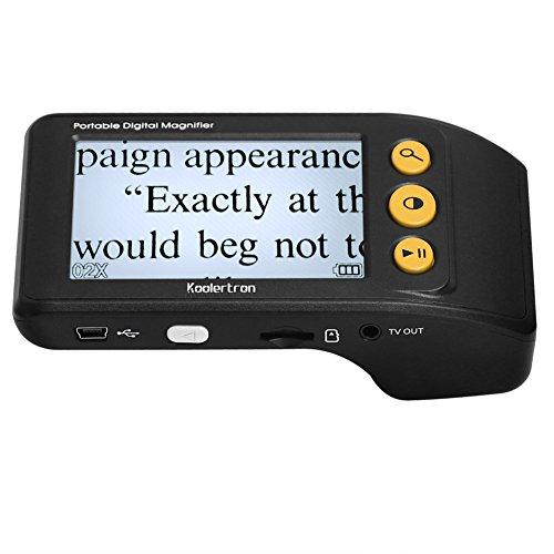 Digital Video Magnifier, 3.5 Zoll Handportable Mobile Elektronische Lesehilfe Leselupen für sehbehinderte, Senioren, Makuladegeneration, Menschen mit hoher Kurzsichtigkeit(Schwarz)