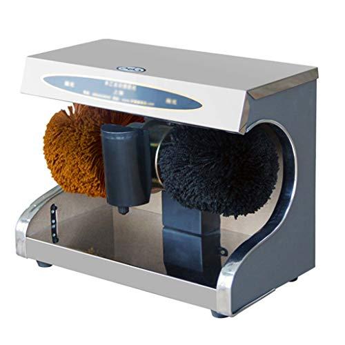 LCF Professionele schoenpoetsmachine met roterende borstels, 2 polijstborstels voor lichte en donkere schoenen, reinigingsborstel, multifunctionele polijstmachine