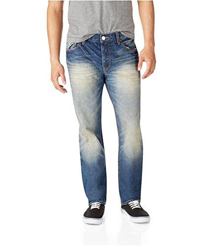 Aeropostale Mens Essex Denim Straight Leg Jeans, Blue, 27W x 28L