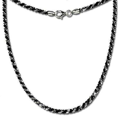 SilberDream Collier silber schwarz Damen Schmuck 45cm 925 Silber SDK21645S