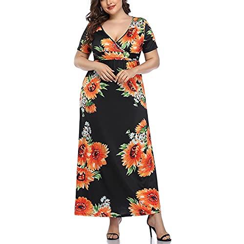 AEbdgdd Dress - Vestido de mujer sin mangas de color liso con botones de cintura media con cuello en V, falda de playa, verano, estilo vacaciones, fresco y transpirable Negro M