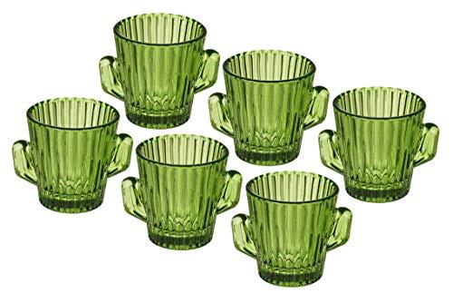 jameitop® 6er Set Shot Glas Kaktus für die Tequila Party/JGA
