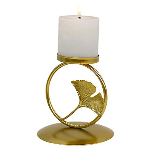IMIKEYA Nordic Stijl Metalen Kandelaar Keuken Woondecoratie Tafelblad Kandelaar Geur Olie Brandende Tafel (Gouden S)
