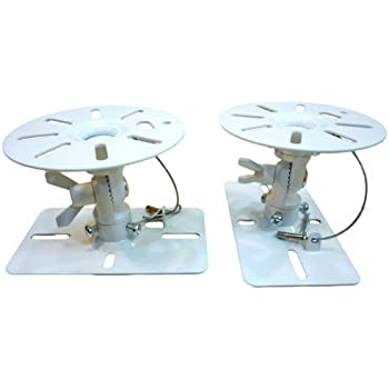 Aceofparts スピーカー天吊り金具 2個1組 ホワイト SWB-ACE-101W