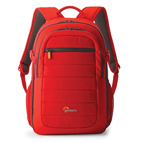 Lowepro LP36894-PWW, Tahoe 150 Backpack for Camera, Customisable Interior, Fits DSLR with Lens Attached, Flash, Extra Lens, Personal Gear, Red