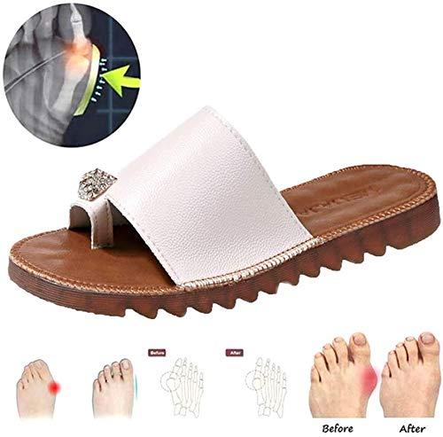 JXILY Sandalias ortopédicas Soporte Zapatos Plataforma Punta Abierta para Mujer Zapatos Alisar el pie Juanete Corrección Dedo Gordo