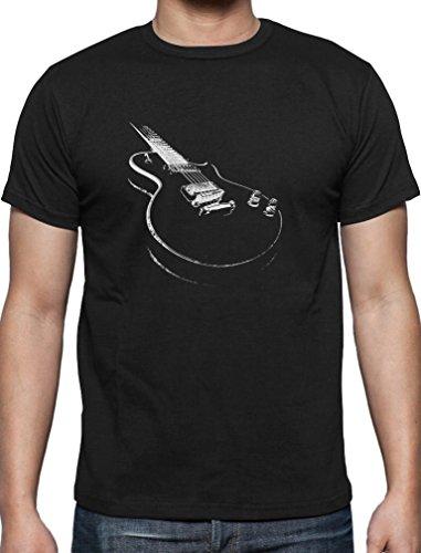 Geschenk für alle Musikfans mit E-Gitarre - Motiv T-Shirt Small Schwarz