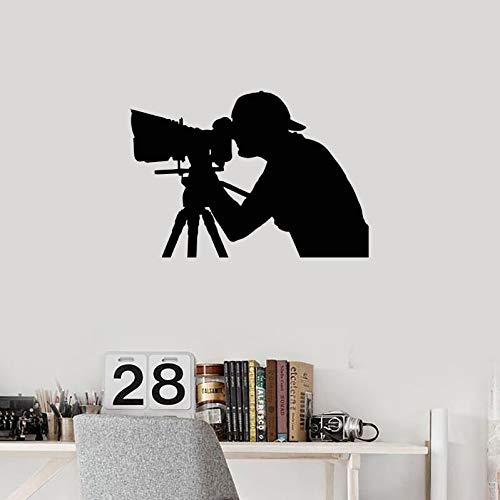 yaonuli Fotograf Muurtattoo Fotograf Silhouet Vinyl Muursticker Foto Salon muurschildering