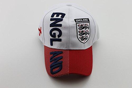 EM 2016 Baseballcap Caps Mütze Base Cap England Landesname in 3D Optik