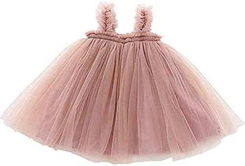 Vestido para niñas bebés Vestido de Fiesta de Verano de Tul con Falda tutú para niños pequeños recién Nacidos con Vestidos de Princesa para niñas 90 Rosa 12-18 Meses