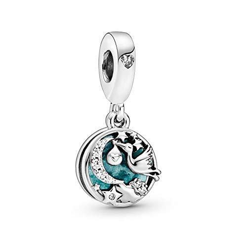 Pandora Storch und Funkelnde Sterne Charm-Anhänger