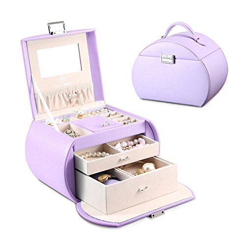 Vlando Princess Style Jewelry Box from Netherlands Design Team, Fabulous Girls Gift (Lavender)