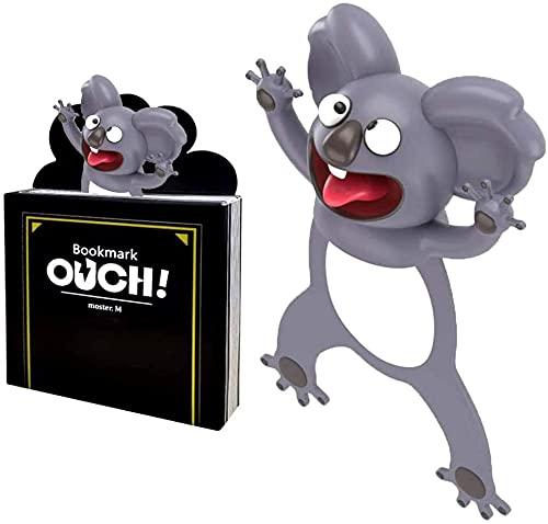 Segnalibro 3D Cartoon Animali Bambini per un maggiore divertimento durante la lettura, Bookmark per studenti e bambini, adatto per bambini, adulti, feste (I- Koala) (circa 7,8 cm)