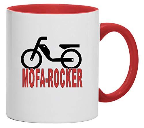 Bimaxx Tasse | Mofa-Rocker | weiß/rot