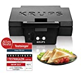 Krups FDK 451 Sandwich-Toaster, 850 Watt, schwarz, 25 x 12 cm