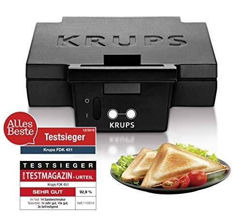 Krups FDK 451 Sandwich-broodrooster, 850 watt, zwart, 25 x 12 cm